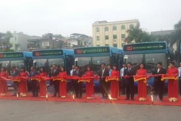 Tổng Công ty Vận tải Hà Nội khai trương tuyến xe buýt mới sử dụng xe buýt MAZ ...
