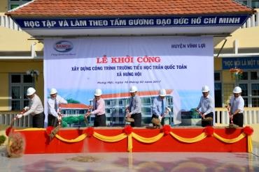 SAMCO tài trợ kinh phí xây dựng trường tiểu học tại Bạc Liêu