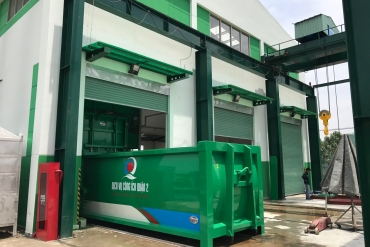 SAMCO hoàn thành thử tải trạm ép rác kín trên địa bàn Quận 2