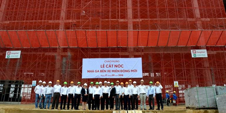 Đoàn công tác Tổng Công ty SAMCO kiểm tra dự án Bến xe Miền Đông mới