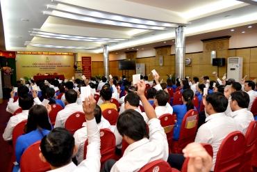 HỘI NGHỊ CÔNG ĐOÀN TỔNG CÔNG TY SAMCO GIỮA NHIỆM KỲ 2015 -2020