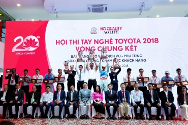 TOYOTA BEN THANH WINS TWO GOLD MEDALS IN 2018 TOYOTA SKILLS CONTEST