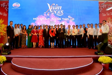 SAMCO jubilantly and boisterously holds its 2018 Lunar New Year  get-together