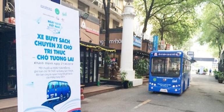 SAMCO tài trợ mô hình xe buýt thư viện: Xe buýt sách, chuyến xe chở tri thức cho tương lai