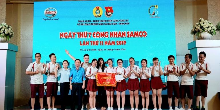 SAMCO THAM GIA HỘI THI ĐỒNG DIỄN THỂ DỤC HƯỞNG ỨNG THÁNG CÔNG NHÂN NĂM 2019